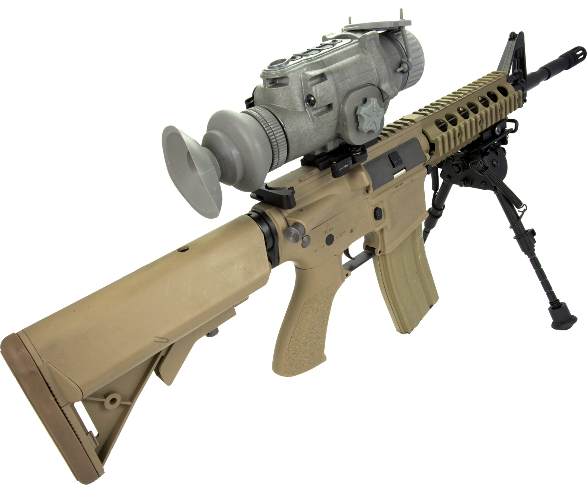 Weapon clip machine gun. The lwts thermal scope