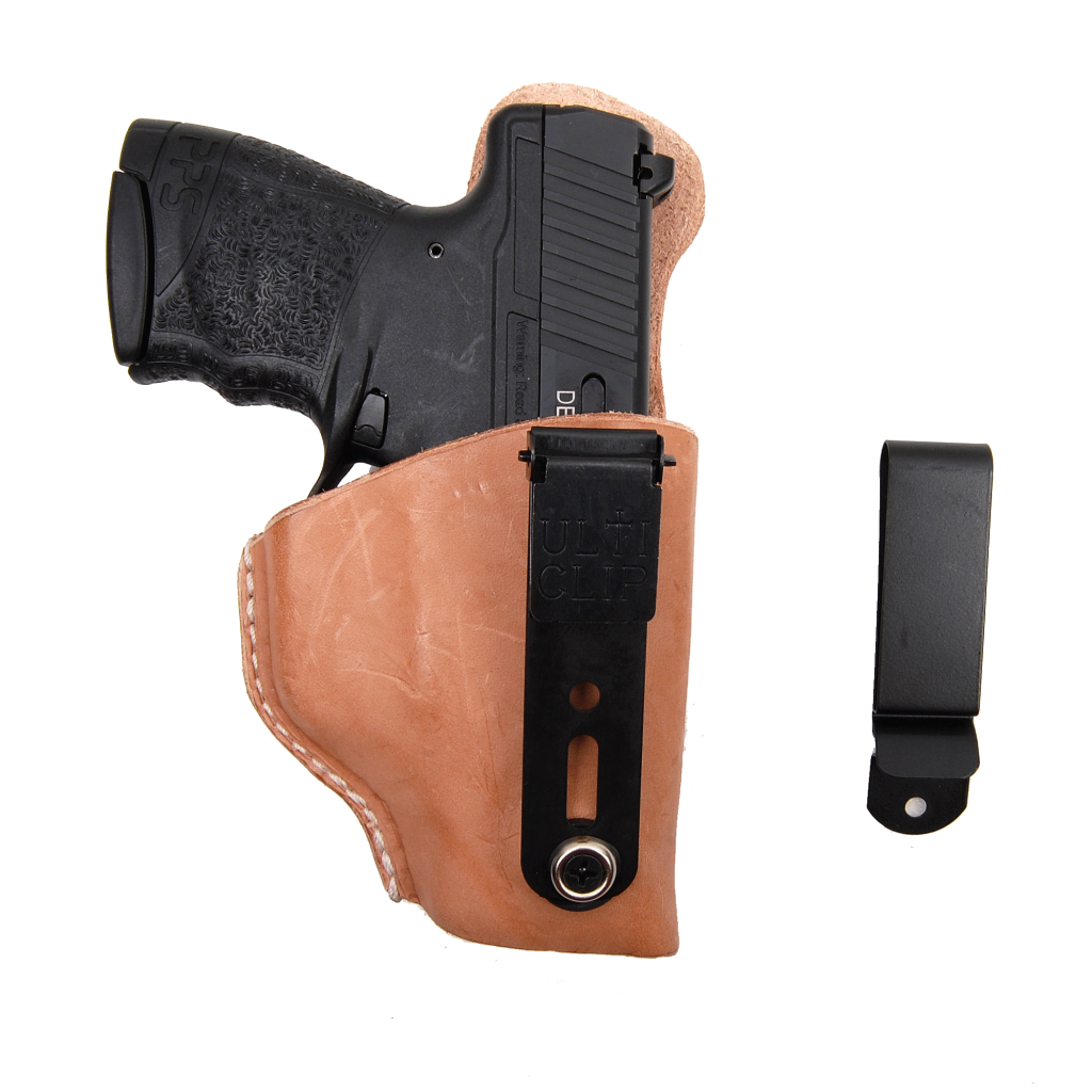 Exclusive ulticlip holster guns. Weapon clip magazine svg stock