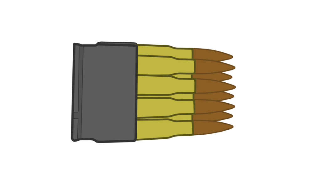 Weapon clip mannlich. Collection of free bullet