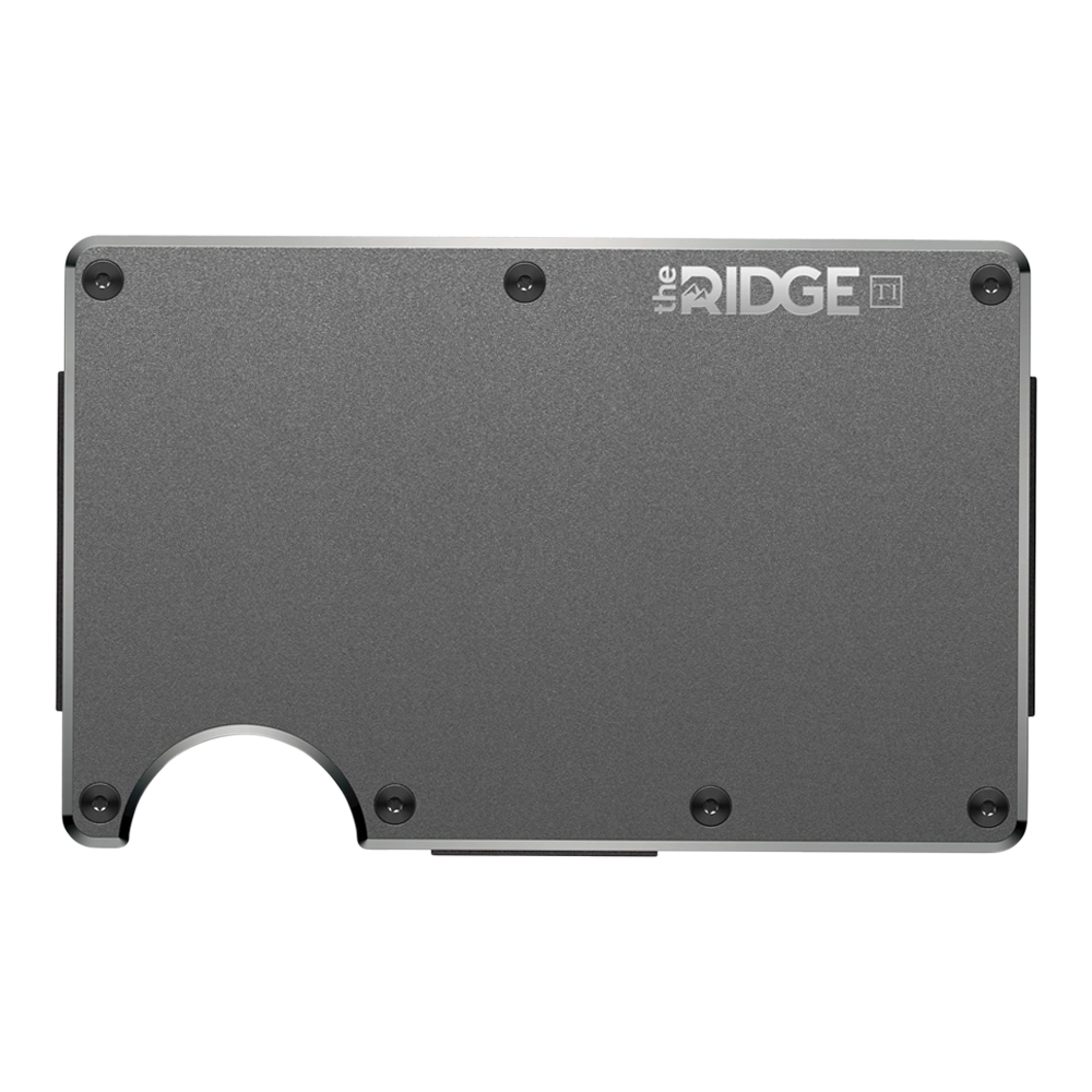 Weapon clip money. The ridge titanium wallet