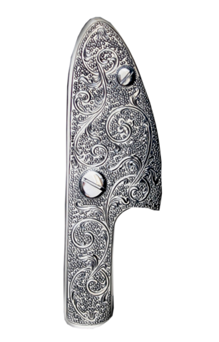 Weapon clip money. Hand engraved side