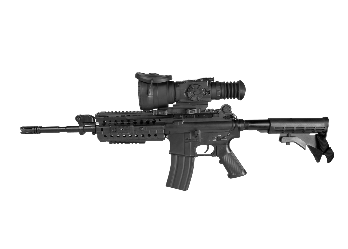 Weapon clip thermal rifle scope. Armasight zeus mm add