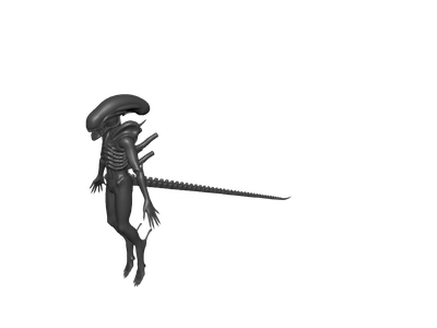 Weapon drawing alien. D models for free