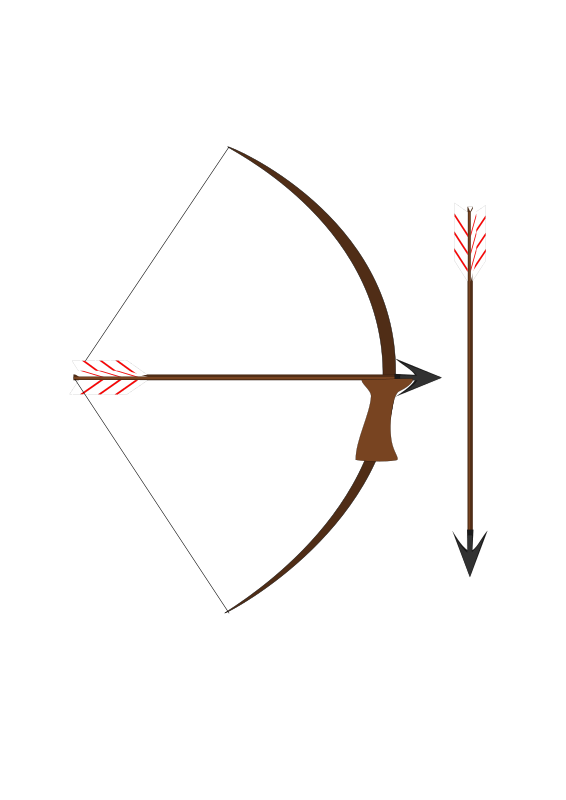 Weapon drawing arrow. Clipart bow and medium