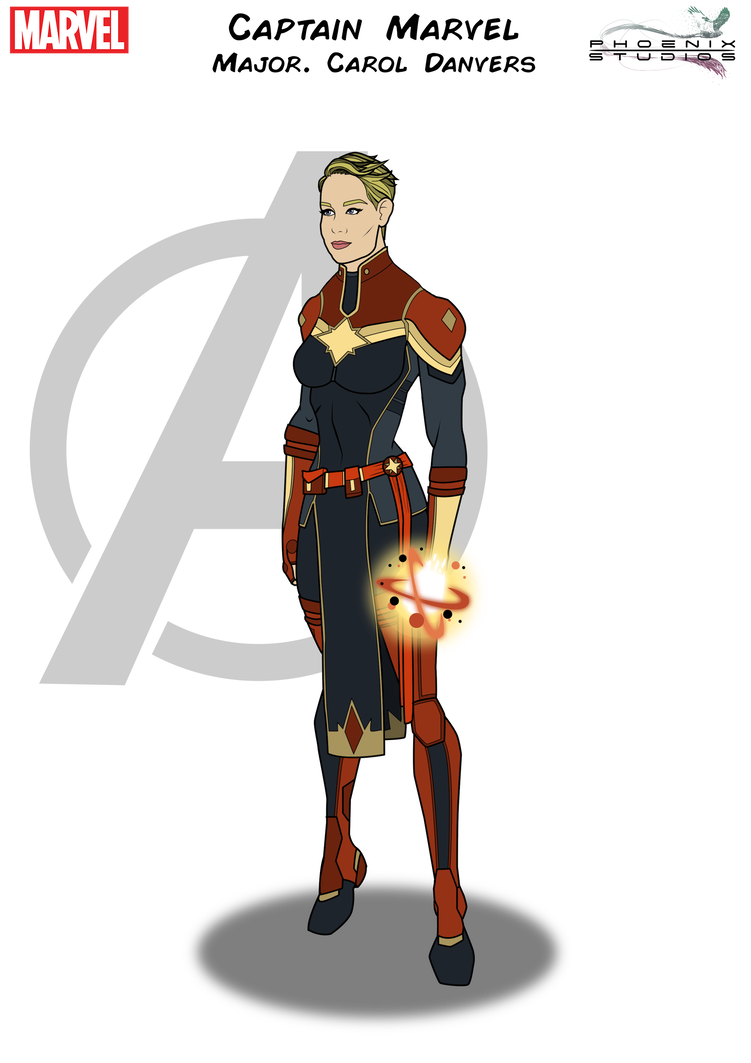 Weapon drawing avengers. Captain marvel by kyle