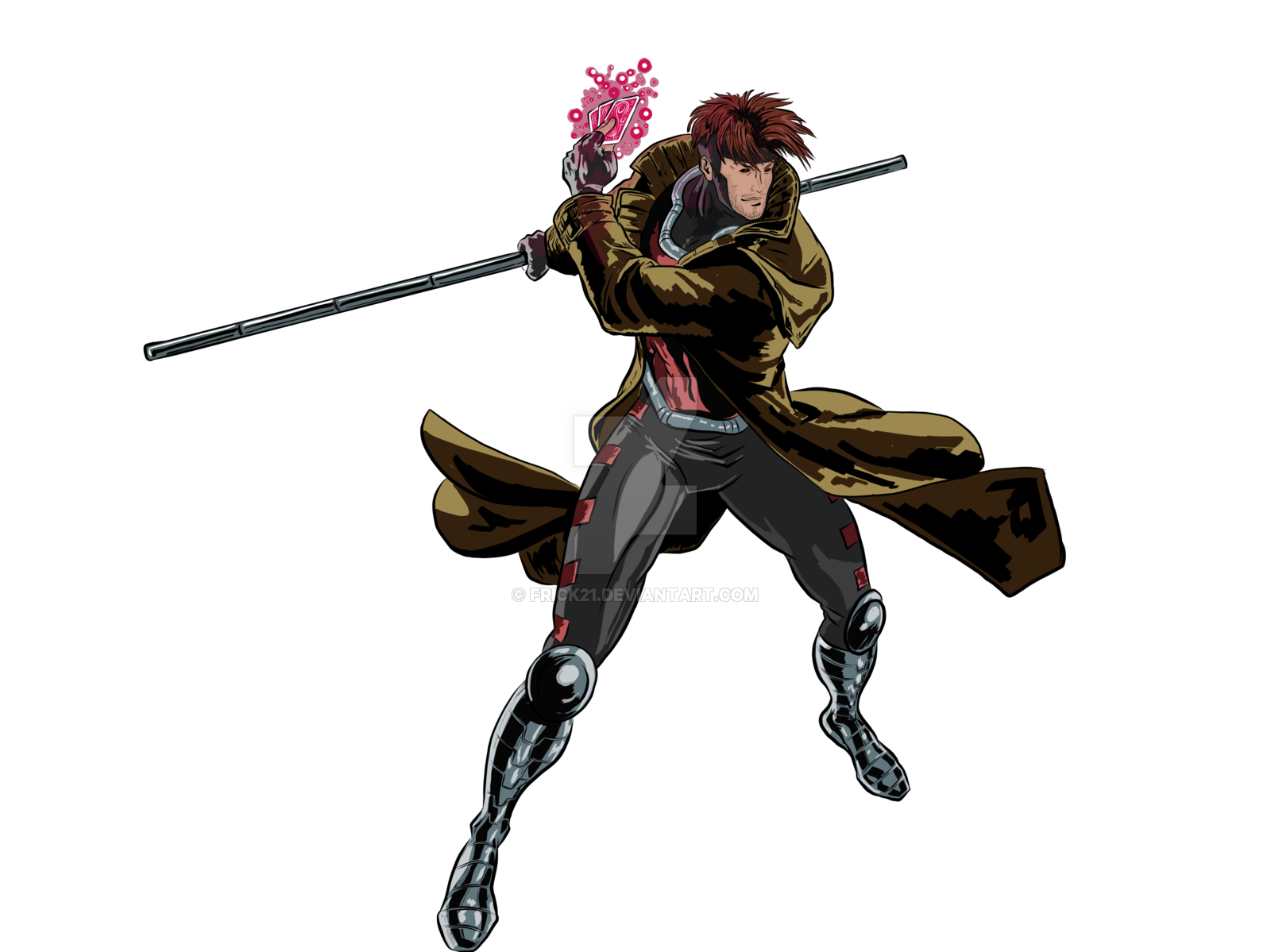 Weapon drawing avengers. Gambit digital by frick
