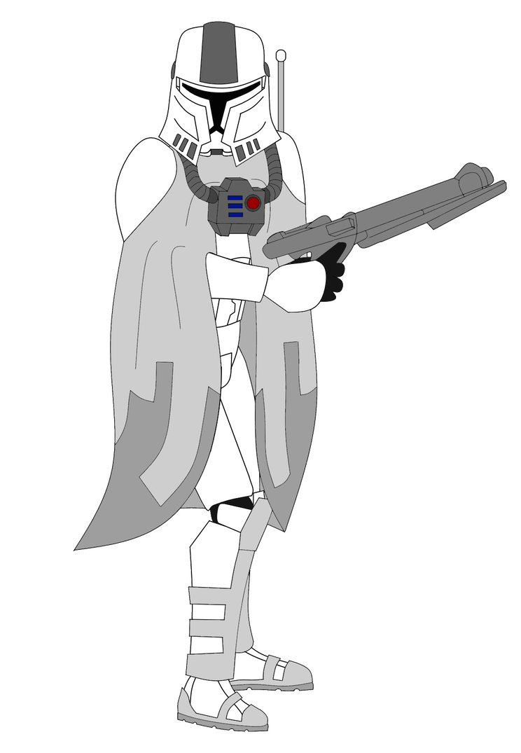 Weapon drawing concept. Snow trooper by fbombheart