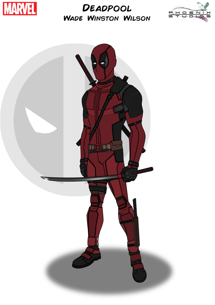 Weapon drawing deadpool. By kyle a mcdonald
