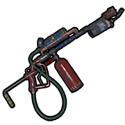 Weapon drawing flamethrower. Flame thrower rust labs