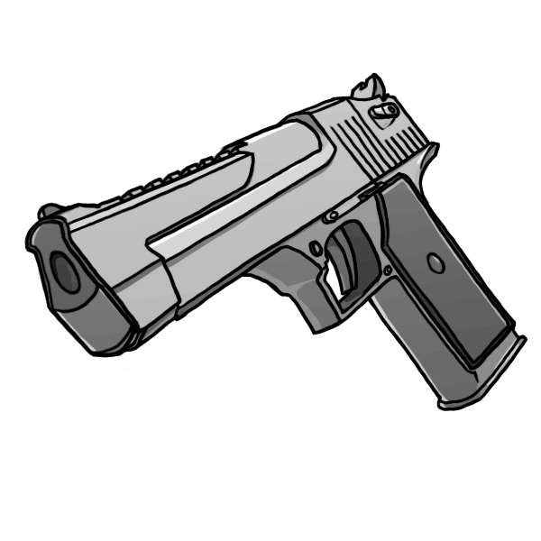Weapon drawing gun. Trigger pistol transprent png