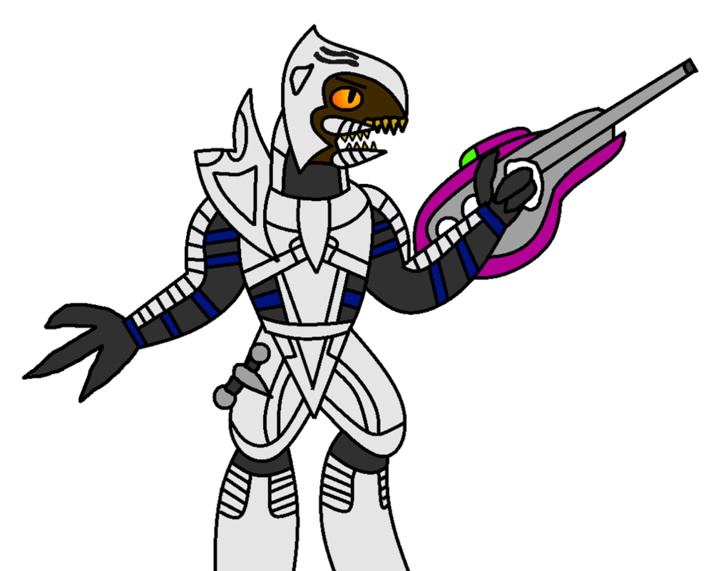 Weapon drawing person. Halo arbiter thel vadam
