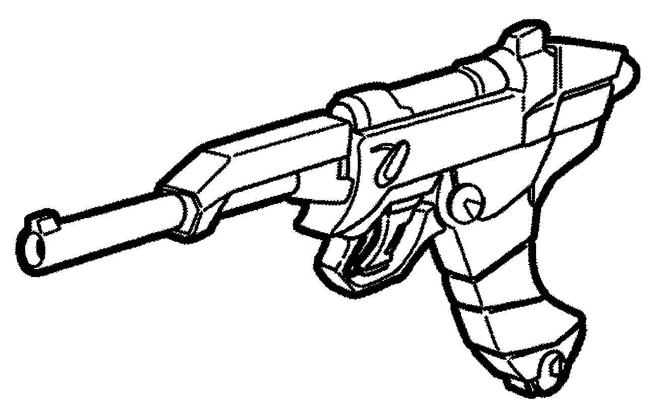 Weapon drawing pistol. Technology c blaster star