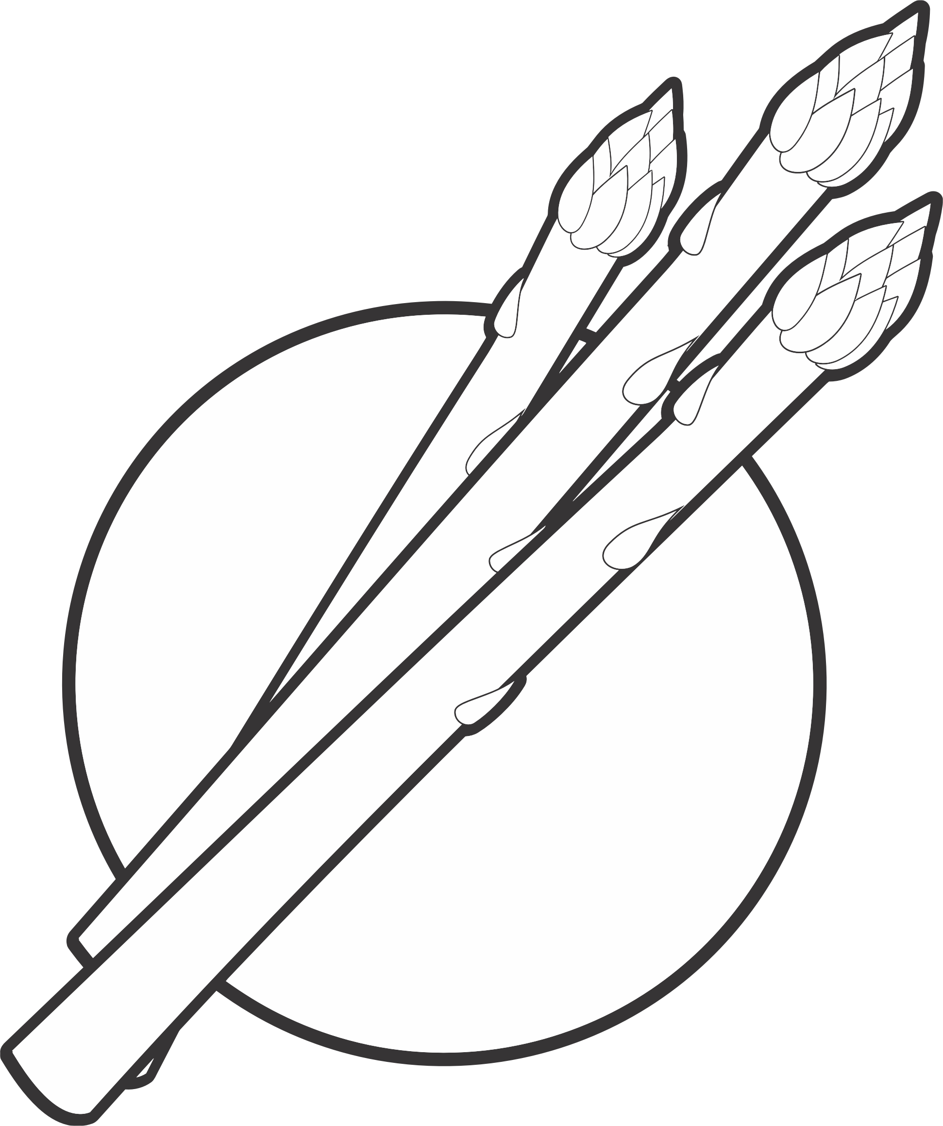 Weapon drawing simple. Clipart asparagus line art