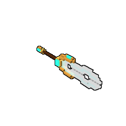 Weapon drawing spear. Crystalline style trove