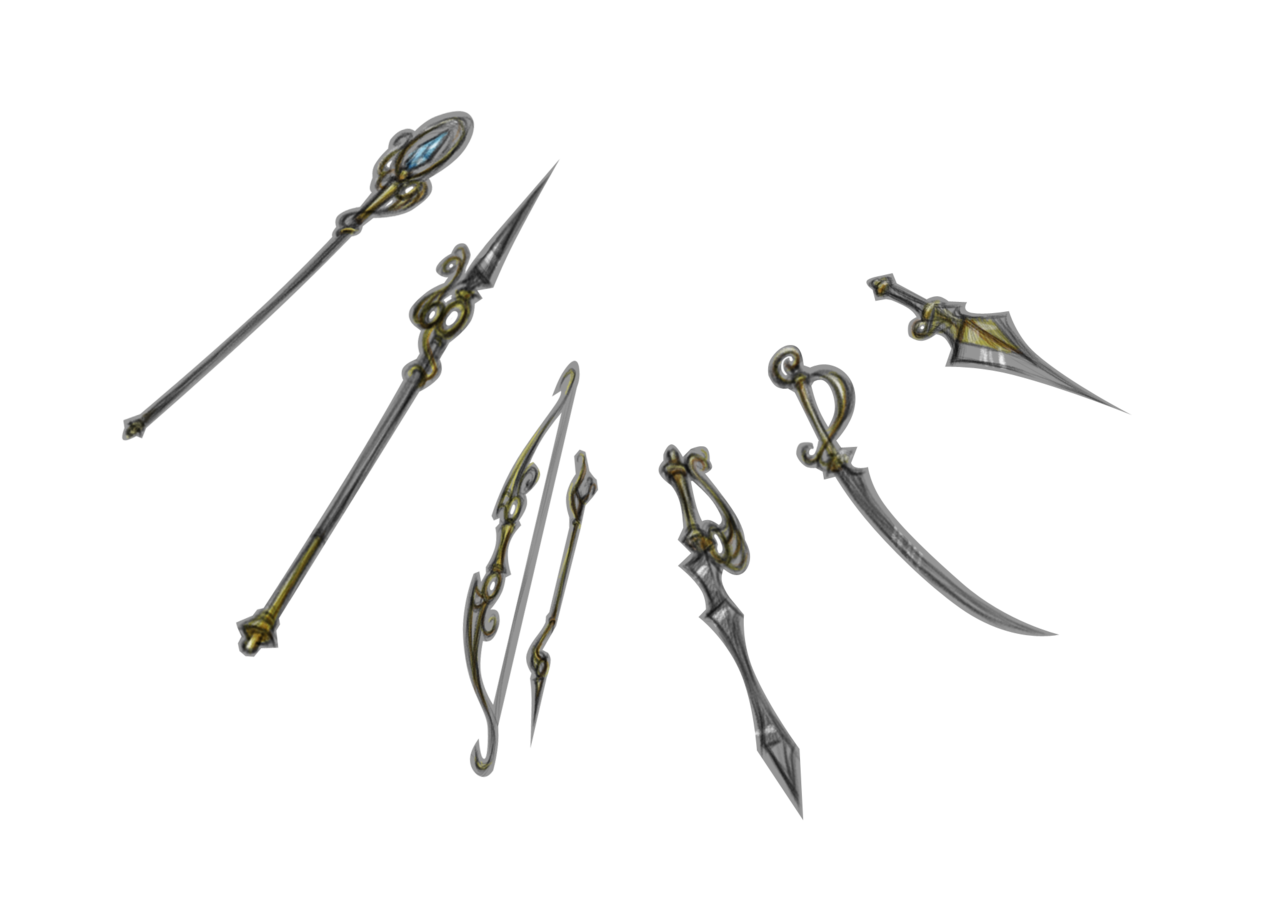 Weapon drawing spear. Stella design sketches by