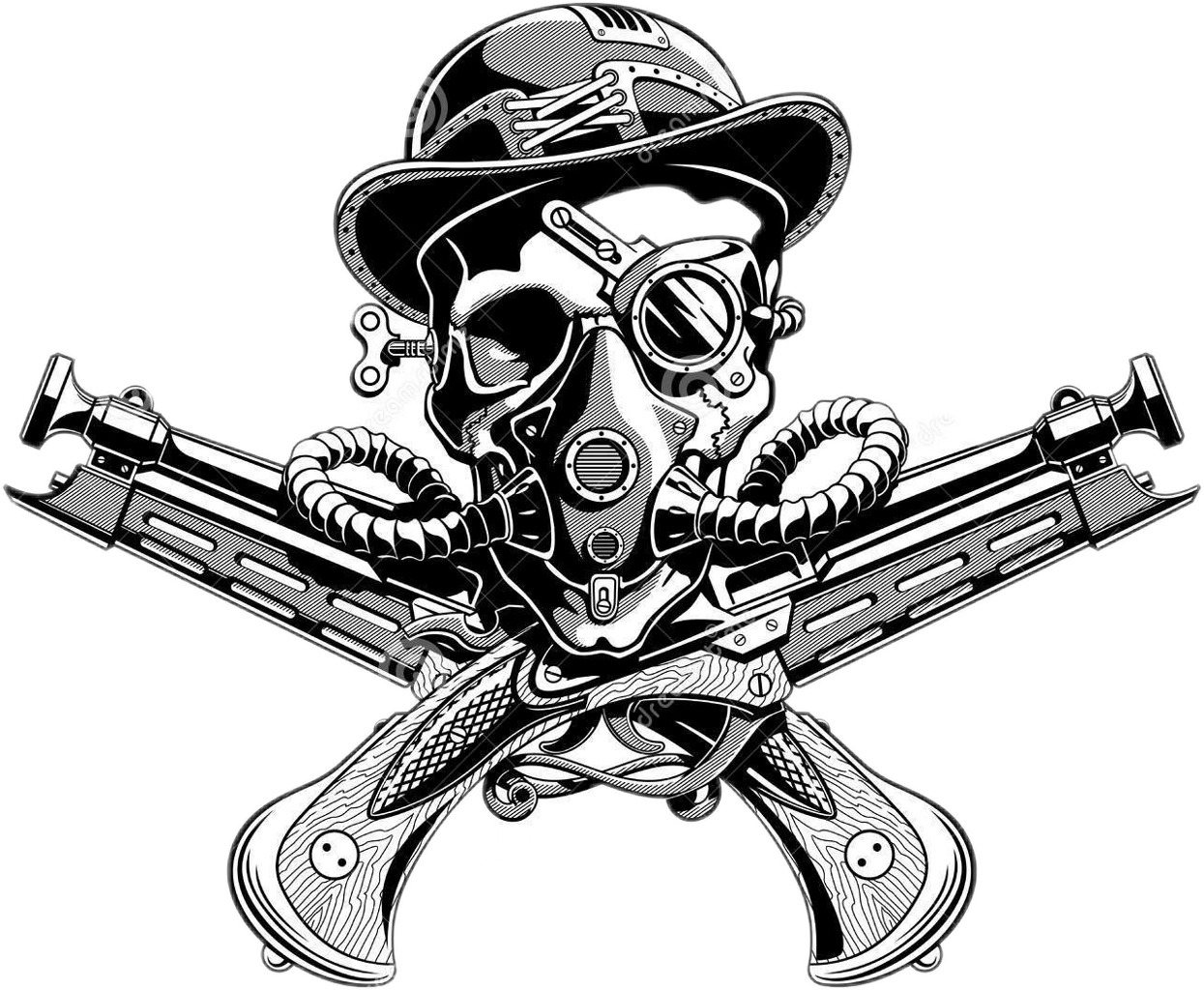 Weapon drawing steampunk. Freetoedit sticker by michael