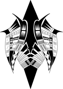 Weapon drawing tribal. Butterfly clip art at