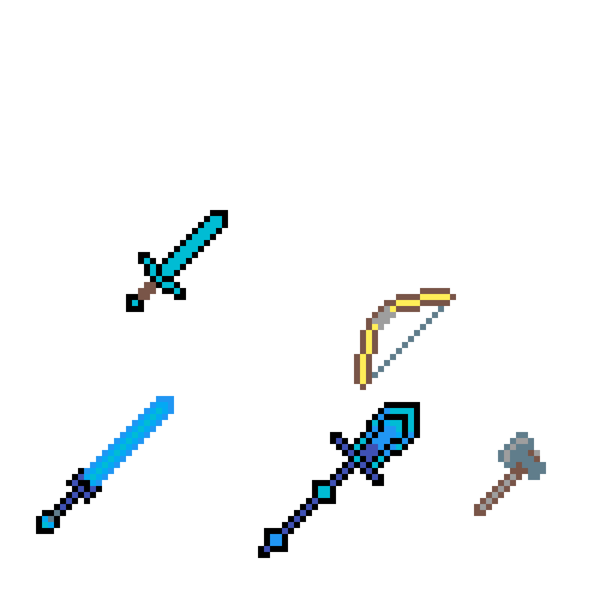 Weapons drawing. Pixilart the ultimate minecraft