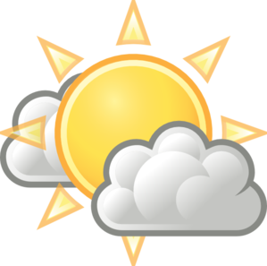 Weather clipart different weather. Few clouds clip art