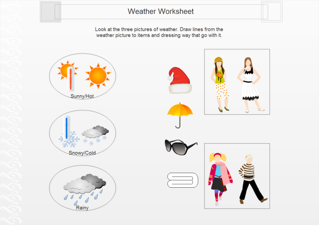 Weather clipart different weather. How to use application