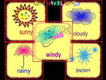 Weather clipart different weather. Cards clip art back