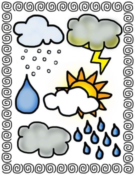 Weather clipart kindergarten. Clip art bundle personal