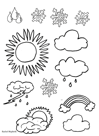 Weather clipart pdf. Rachel maybeth free coloring