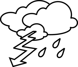 Weather clipart stormy weather. Outline clip art panda