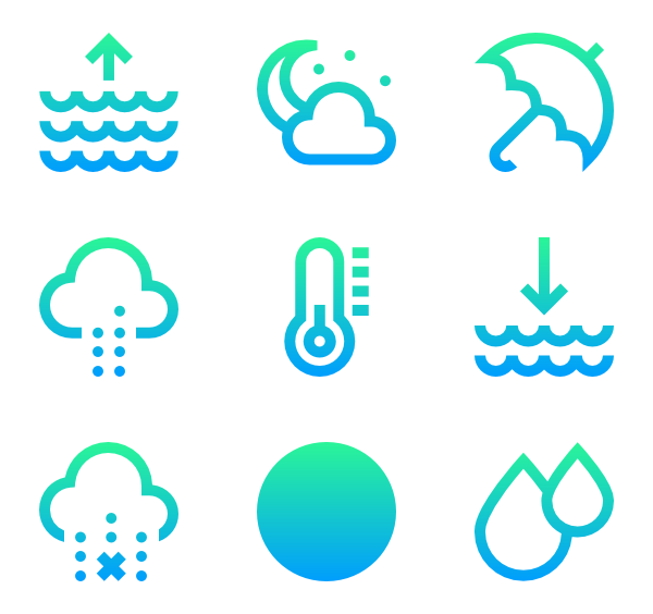 Heat vector temperature. Icons free weather