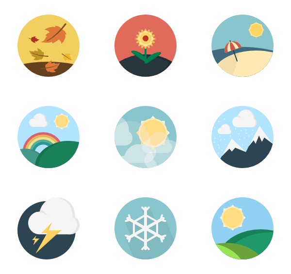 pixel icon packs. Weather vector banner
