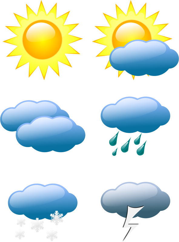 Weather vector. Free symbols psd files vector freeuse