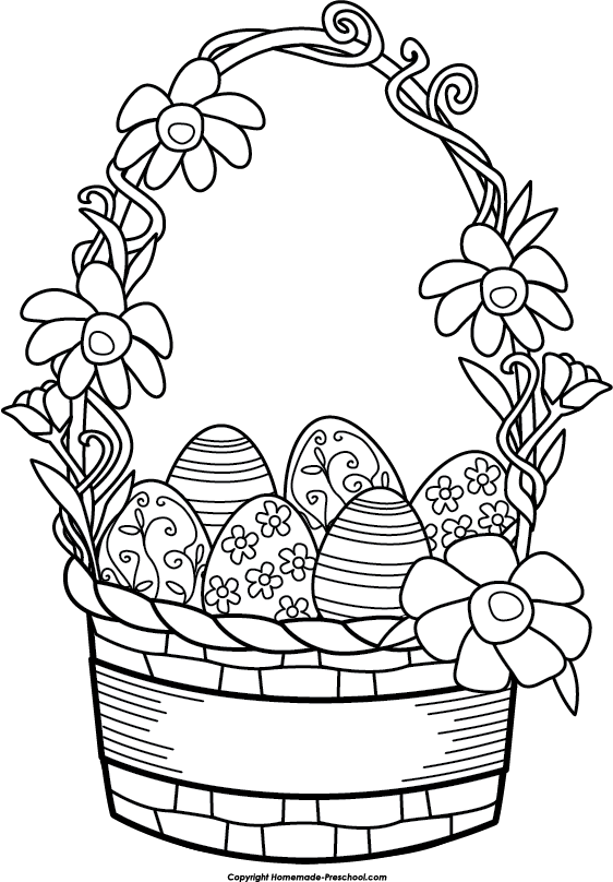 Weaving drawing basket design. Collection of free easter