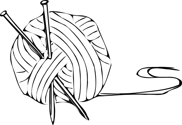 Weaving drawing wrapped animal. Knitting clipart panda free