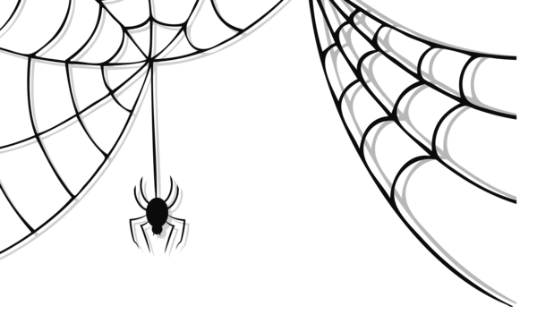 Spiderweb png vector. Haunted spider and web
