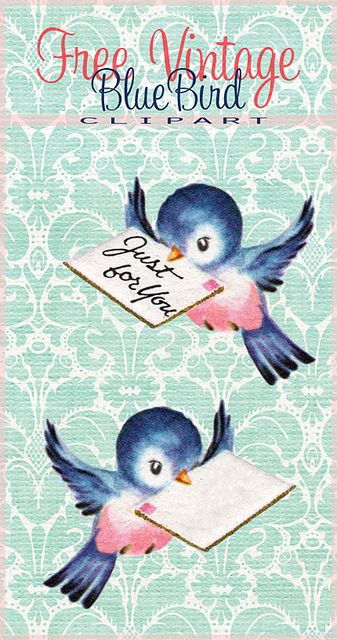 Web clipart thing. Free vintage bluebird tags