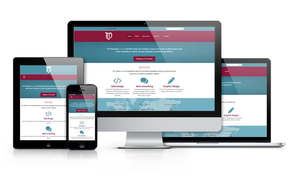 Web page png. Design tvd responsive custom