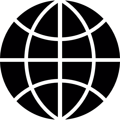 World wide black symbol. Web png clip art stock