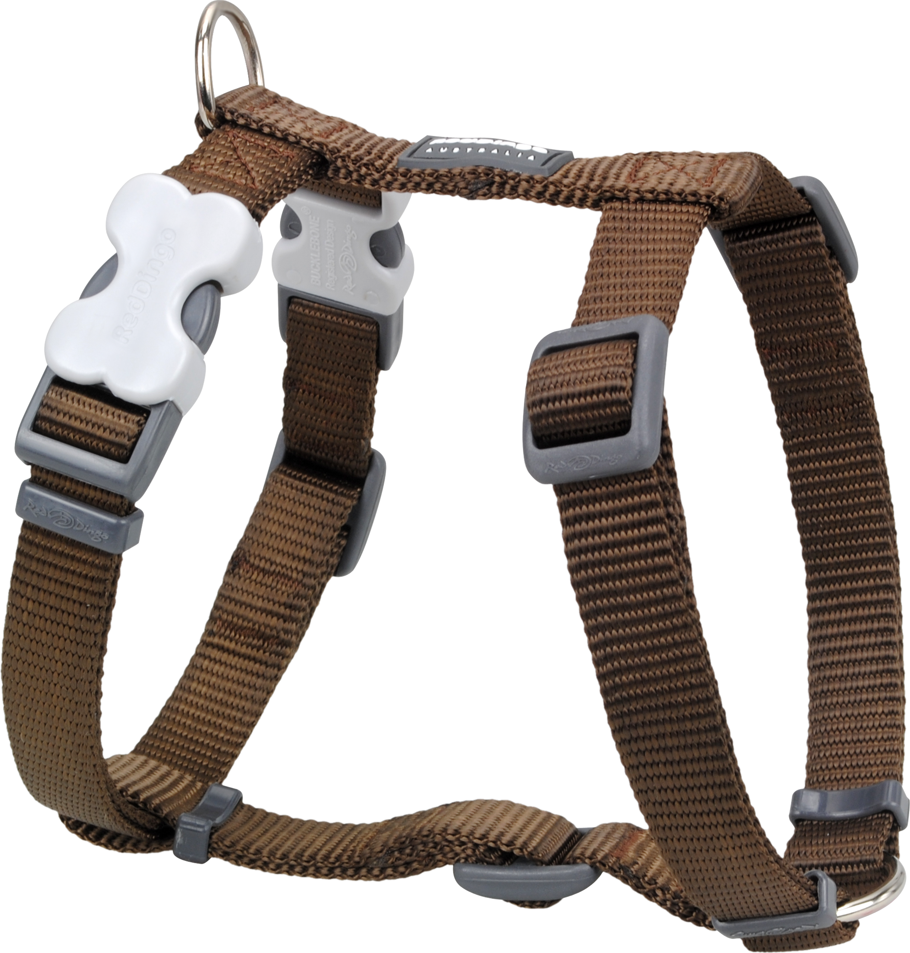 Webbing clip harness. Red dingo classic dog