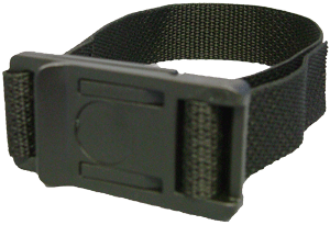Webbing clip side. Gm buckle strap with