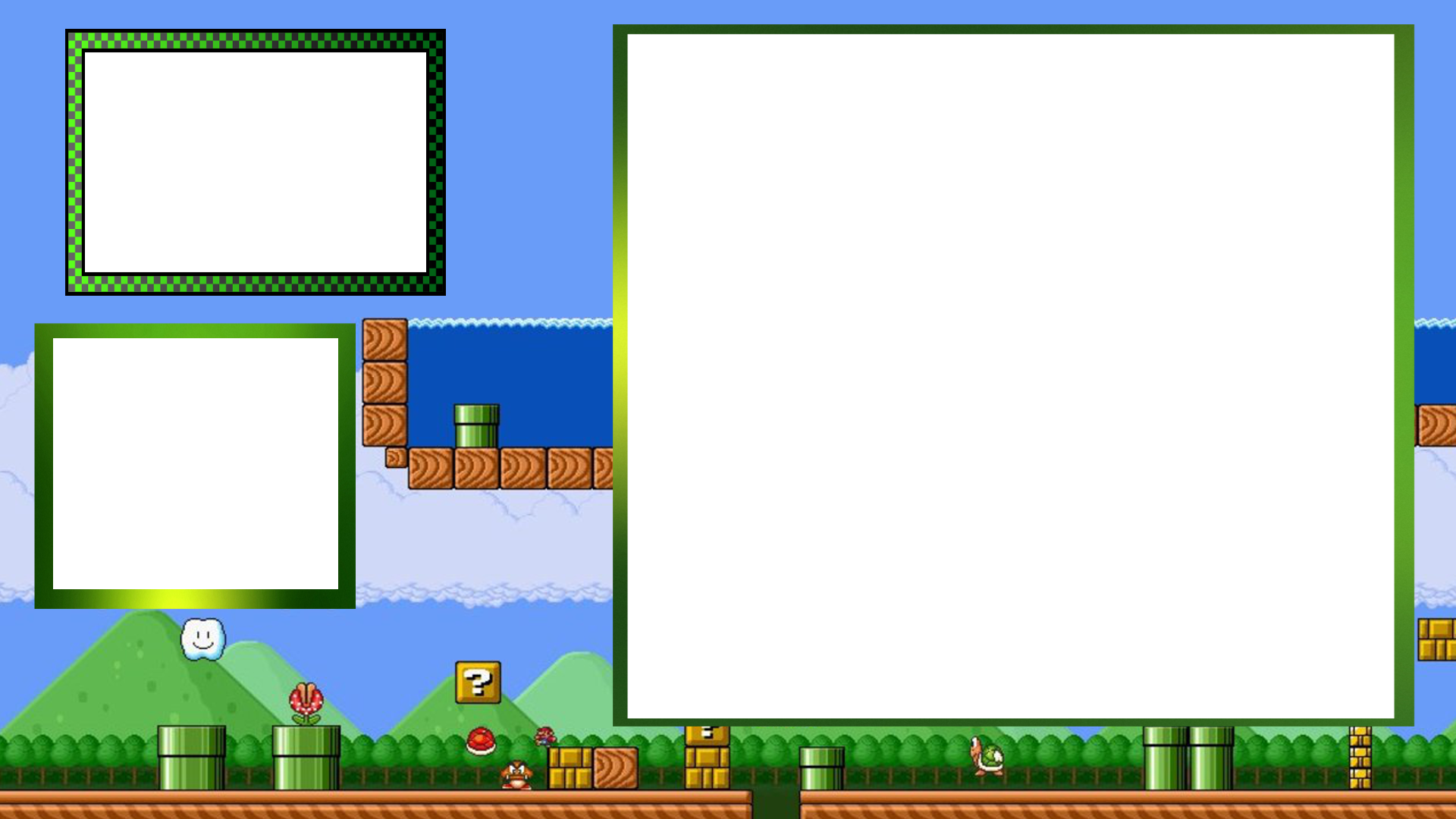 Webcam border overlay png. Mario twitch for retro