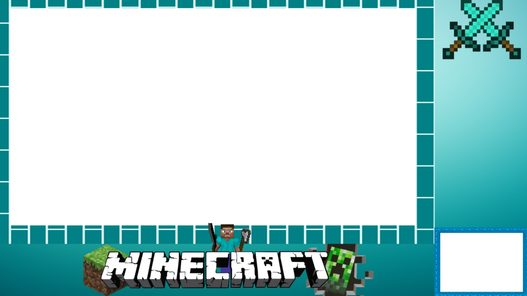 Webcam border overlay png. Minecraft twitch free overlays