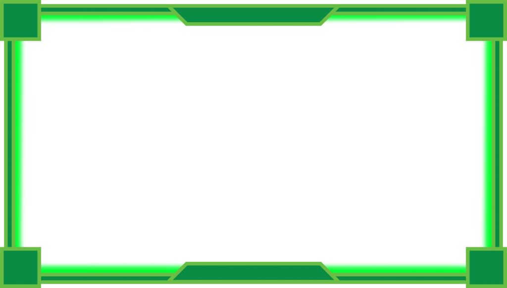 Webcam border png. Overlay green by beginnerbots