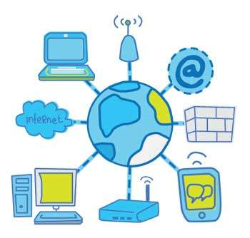 Website clipart network computer. Internet and intranet