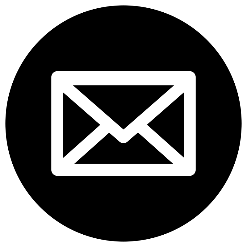 Email logo white png. Free website icon black