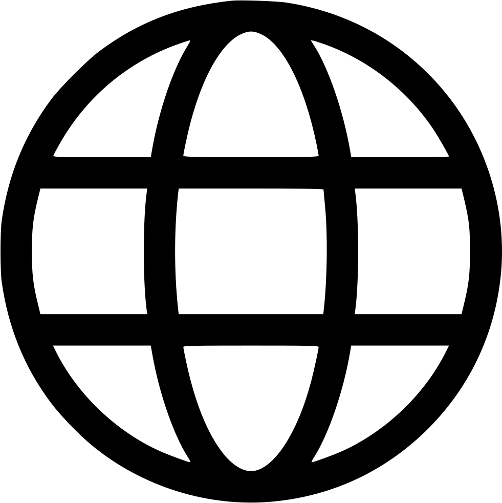 Website icon png white. Earth world wide web