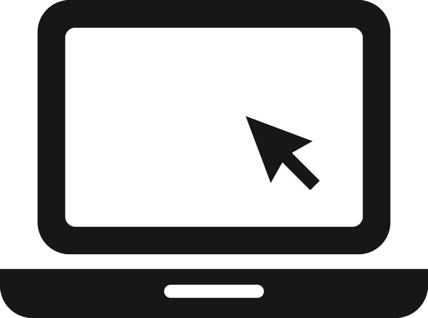 Website icon png white. Black and laptop image