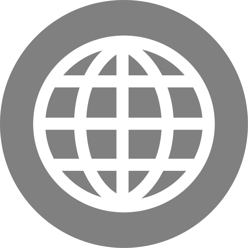 Internet transparent black and white. Web icon svg shared