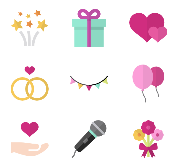 Wedding icons free vector. Mac hearts png download
