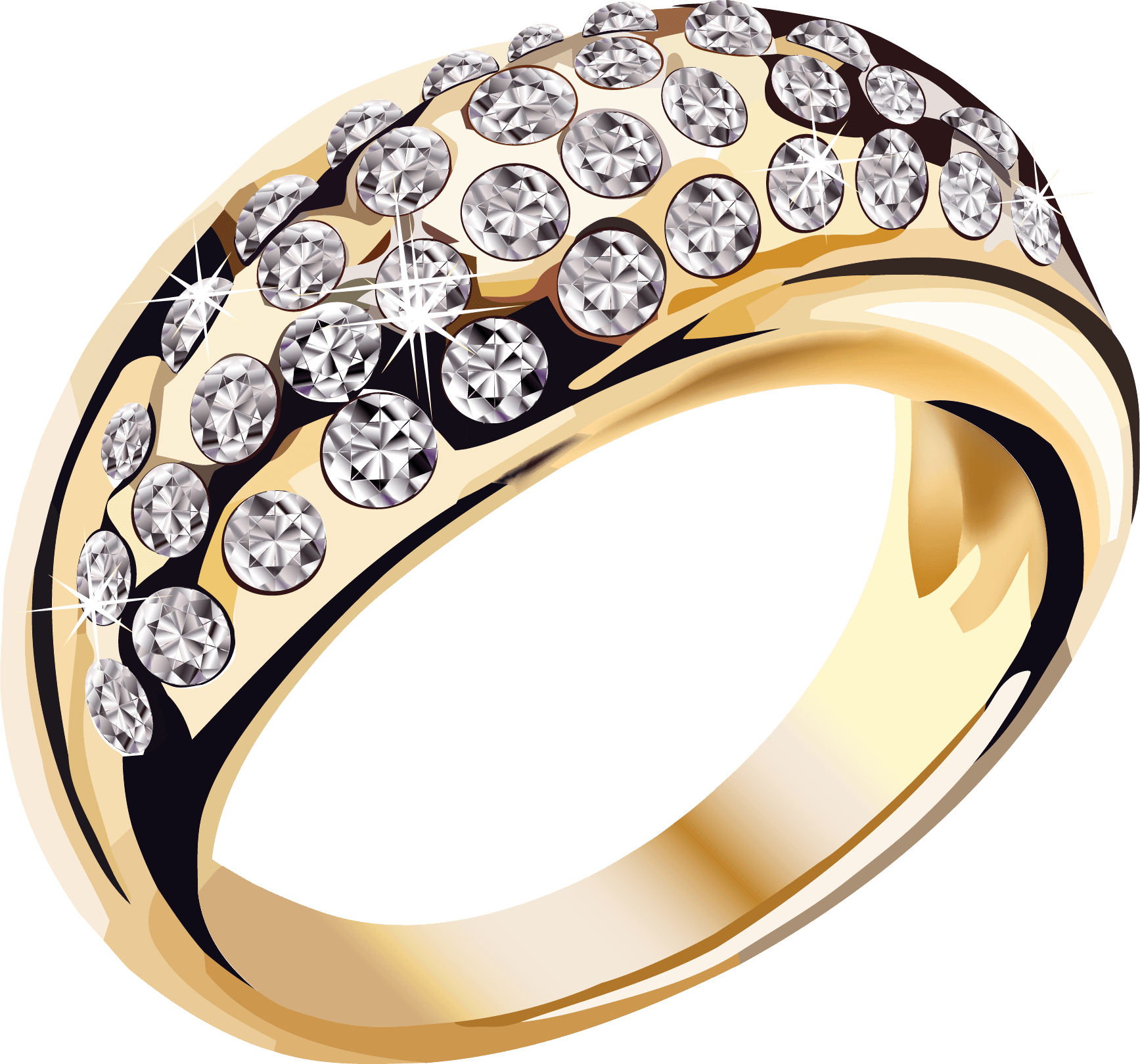 Wedding bling png. Gold diamonds ring jewelry