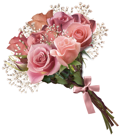 Flowers bouquet png transparent. Pink rose clipart kedvenceim